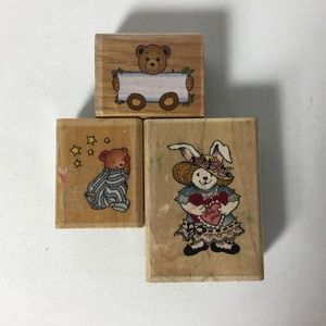 Stamp City Mounted Rubber Stamps Bunny & Bears